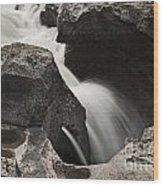 Nigel Creek Waterfall Detail Wood Print