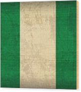 Nigeria Flag Vintage Distressed Finish Wood Print
