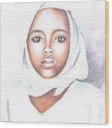Nigerian Girl Wood Print