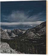 Night At Olmstead Point Wood Print by Cat Connor