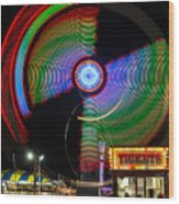 Night At The Fair Wood Print