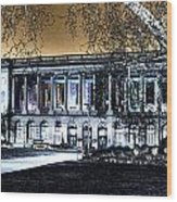 Night At The Library IIi Wood Print
