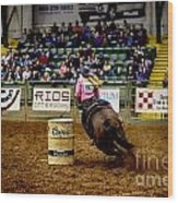 Night At The Rodeo V23 Wood Print