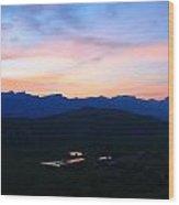 Night At The Tetons Wood Print