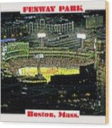 Night Baseball Fenway Park Boston Massachusetts Wood Print