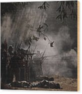 Night Battle Wood Print