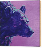 Night Bear Wood Print