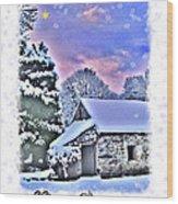 Christmas Card 27 Wood Print