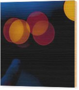 Night Bokeh Spots Wood Print
