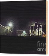 Night Cotton Gin Wood Print