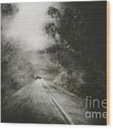 Night Driving On The Bells Line Of Road Wood Print