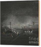 Night Driving - Stanhope Parkway Wood Print