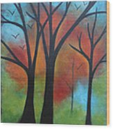 Night Fall Wood Print