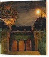 Night-fall Wood Print