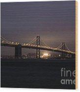 Night Falls On San Francisco Wood Print