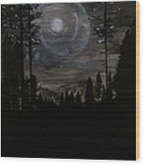 Night Wood Print