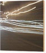 Night Lights Wood Print