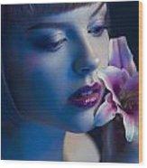 Night Lilly Wood Print