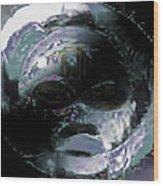 Night Mask Wood Print