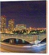 Night Moves 2-boston Wood Print by Joann Vitali