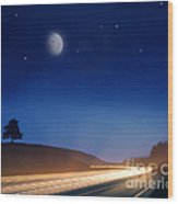 Night Moves Wood Print