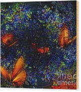 Night Of The Butterflies Wood Print