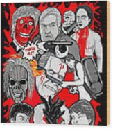 Night Of The Creeps  Wood Print by Gary Niles
