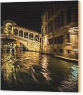 Night On The Grand Canal Wood Print