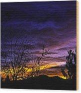 Night Paints The Sky Wood Print