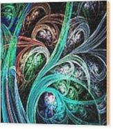 Night Phoenix Wood Print