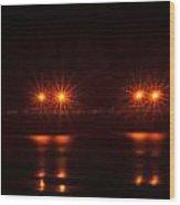 Night Pier Wood Print