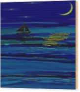 Night Reflections Wood Print