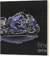 Night Rider Wood Print