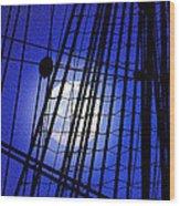 Night Rigging Wood Print