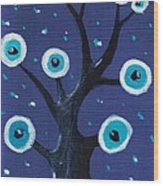 Night Sentry Wood Print