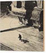 Night Shadows Wood Print by Edward Hopper