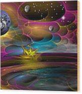 Night Sky Wood Print