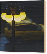 Night Taxi Wood Print