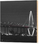Night Time On The Bridge Wood Print