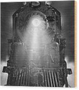 Night Train On The Move Wood Print