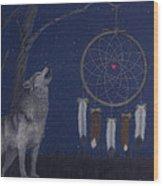 Night Wood Print