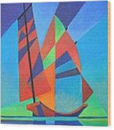 Nightboat Wood Print