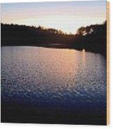 Nightfall On The Lake Wood Print