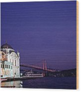 Nightfall Over Istanbul Wood Print