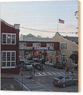 Nightfall Over Monterey Cannery Row California 5d25146 Wood Print