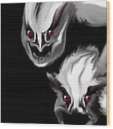 Nightmare Companions Wood Print