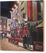 Nights In The Temple Bar Wood Print