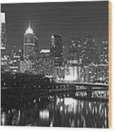 Nighttime In Philadelphia Wood Print