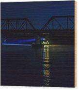 Nighttime Tug Wood Print