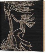 Nightwind Wood Print